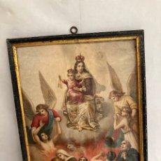 Arte: ANTIGUO CROMOLITOGRAFIA RELIGIOSA!. Lote 278459723