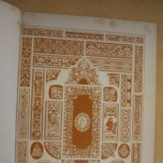 Arte: AÑO 1897 LAMINA CROMOLITOGRAFIADA RENACIMIENTO ALEMAN: ENCUADERNACIONES - MONTANER Y SIMON. Lote 287860088
