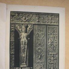 Arte: AÑO 1897 LAMINA CROMOLITOGRAFIADA RENACIMIENTO ALEMAN: ORNAMENTOS DE PIEDRA - MONTANER Y SIMON. Lote 287861373
