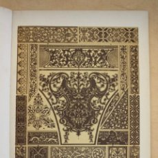 Arte: 1897 LAMINA CROMOLITOGRAFIADA RENACIMIENTO FRANCES Y ALEMAN ORNAMENTACIONES PLANAS MONTANER Y SIMON. Lote 287861743
