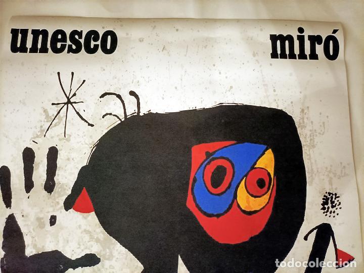 Arte: Bonito Cartel de - Joan Miró - Unesco - Cromolitografía, Tamaño 74x54 cm - Foto 2 - 288587518
