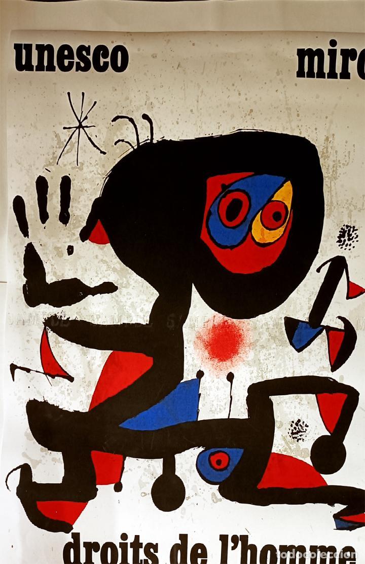 Arte: Bonito Cartel de - Joan Miró - Unesco - Cromolitografía, Tamaño 74x54 cm - Foto 4 - 288587518