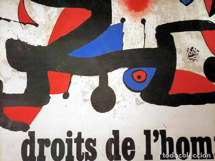 Arte: Bonito Cartel de - Joan Miró - Unesco - Cromolitografía, Tamaño 74x54 cm - Foto 5 - 288587518