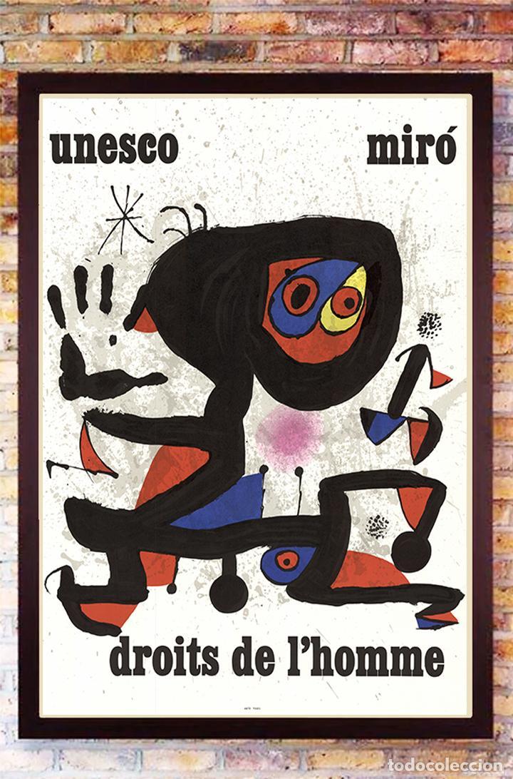 BONITO CARTEL DE - JOAN MIRÓ - UNESCO - CROMOLITOGRAFÍA, TAMAÑO 74X54 CM (Arte - Cromolitografía)