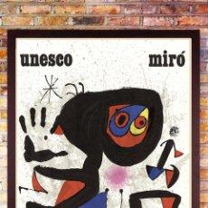Arte: BONITO CARTEL DE - JOAN MIRÓ - UNESCO - CROMOLITOGRAFÍA, TAMAÑO 74X54 CM. Lote 288587518