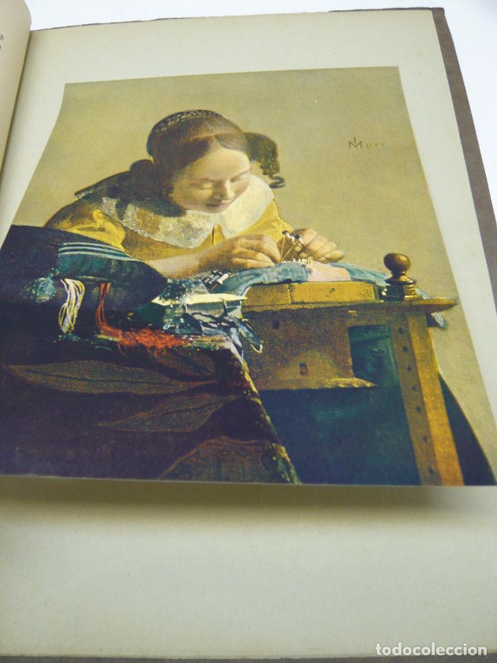 Arte: Johannes Vermeer van Delft (1632-1675) - antigua bella carpeta alemana - cromolitografías ARTE - Foto 3 - 288724593
