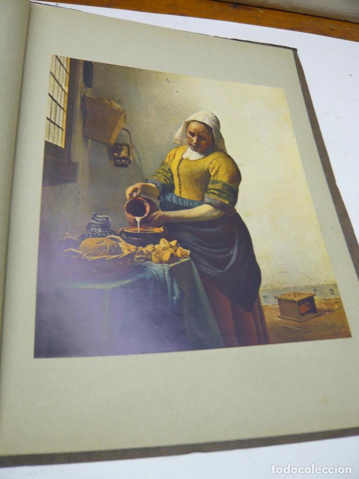 Arte: Johannes Vermeer van Delft (1632-1675) - antigua bella carpeta alemana - cromolitografías ARTE - Foto 4 - 288724593