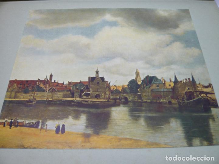 Arte: Johannes Vermeer van Delft (1632-1675) - antigua bella carpeta alemana - cromolitografías ARTE - Foto 5 - 288724593