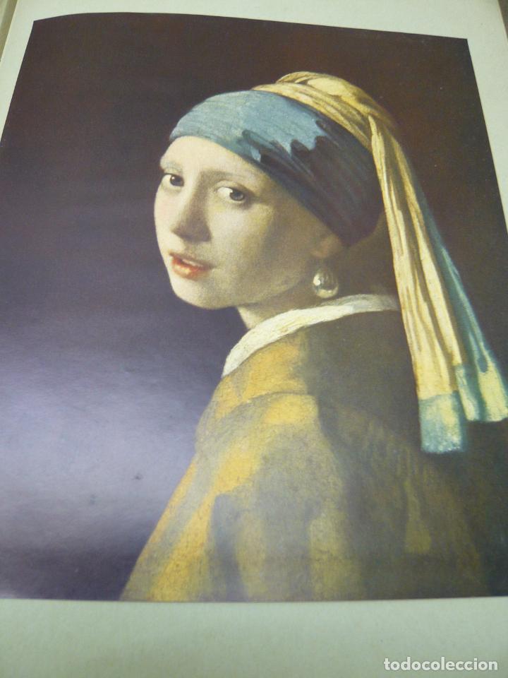 Arte: Johannes Vermeer van Delft (1632-1675) - antigua bella carpeta alemana - cromolitografías ARTE - Foto 7 - 288724593