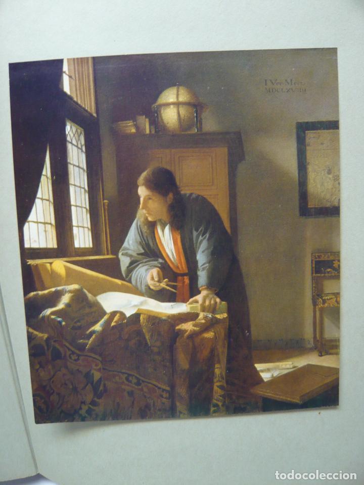 Arte: Johannes Vermeer van Delft (1632-1675) - antigua bella carpeta alemana - cromolitografías ARTE - Foto 8 - 288724593
