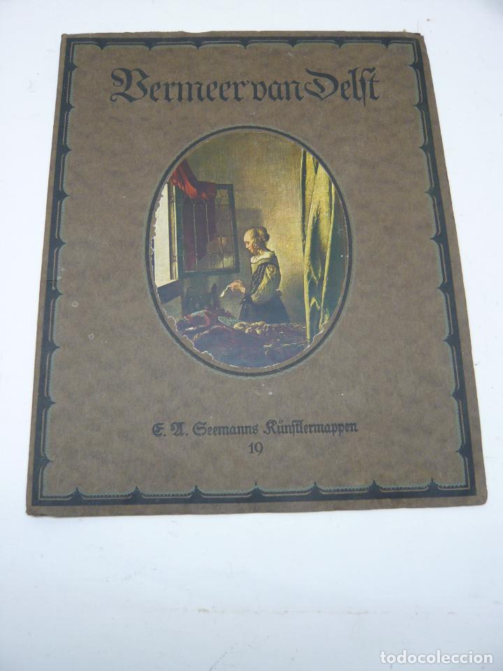 JOHANNES VERMEER VAN DELFT (1632-1675) - ANTIGUA BELLA CARPETA ALEMANA - CROMOLITOGRAFÍAS ARTE (Arte - Cromolitografía)