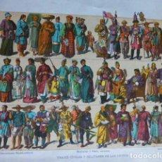 Arte: CHINA TRAJES CIVILES Y MILITARES ANTIGUA CROMOLITOGRAFIA SIGLO XIX 23 X 33 CMTS. Lote 289624853