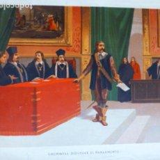 Arte: CRONWELL DISUELVE EL PARLAMENTO ANTIGUA CROMOLITOGRAFIA SIGLO XIX 23 X 33 CMTS. Lote 289626058