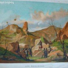 Arte: LOS BAGANDAS ANTIGUA CROMOLITOGRAFIA SIGLO XIX 23 X 33 CMTS. Lote 289626133
