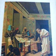 Arte: SOLON EN EGIPTO ANTIGUA CROMOLITOGRAFIA SIGLO XIX 23 X 33 CMTS. Lote 289626333