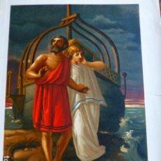 Arte: EL DILUVIO GRIEGO ANTIGUA CROMOLITOGRAFIA SIGLO XIX 23 X 33 CMTS. Lote 289626443