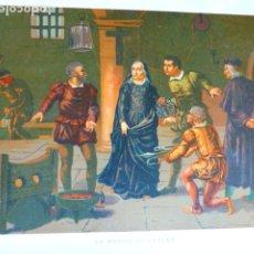 Arte: LA MADRE DE KEPLER ANTIGUA CROMOLITOGRAFIA SIGLO XIX 23 X 33 CMTS. Lote 289626478