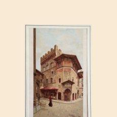 Arte: MUY BONITA CROMOLITOGRAFÍA FLORENCIA - PALACIO DEL ARTE DE LA LANA (PALAZZO DELL'ARTE DELLA LANA). Lote 289829143