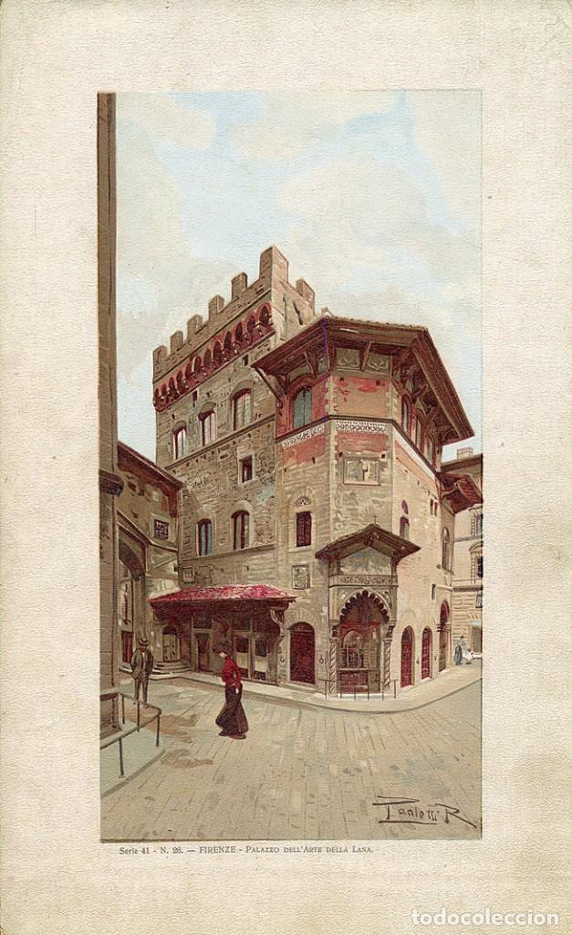 Arte: Muy bonita cromolitografía Florencia - Palacio del Arte de la Lana (Palazzo dell'Arte della Lana) - Foto 2 - 289829143