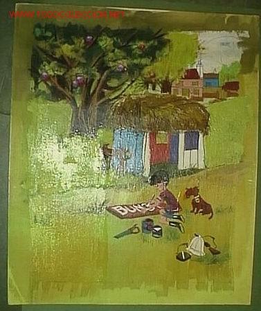 PINTURA SOBRE CARTÓN 29,5 X 35,5 CM (Arte - Dibujos - Contemporáneos siglo XX)