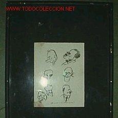 Arte: CARICATURAS ( TINTA ) 11 X 14 CM ORIGINAL ENCONTRADO EN UN LIBRO DE LOS AÑOS 1930. Lote 18339250