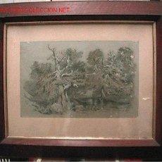 Arte: DIBUJO TINTA 31X49. AÑO 1903. Lote 23955110