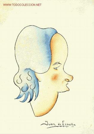 CARICATURA ORIGINAL DE MUJER. (Arte - Dibujos - Contemporáneos siglo XX)