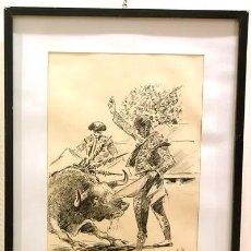 Arte: DIBUJO TAURINO DE JIMENEZ LLORENTE 1975. Lote 8992963