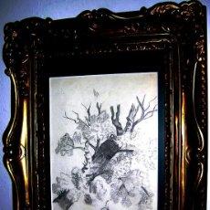 Arte: AUGUSTO COMAS Y BLANCO.1862-1953.FIRMADO ESC.VALENCIANA ALMENDRO EN FLOR. MED 24X17,3.CM.. Lote 26830234
