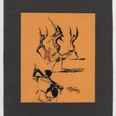 Arte: INTERANTE OBRA DE ARTE DE F. PIÑANA TEMA BAILE ESPAÑOL ORIGINAL. Lote 23878595