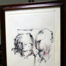 Arte: 1435.- DIBUJO 70X55 CON MARCO Y CRISTAL. FIRMADO. Lote 25618468