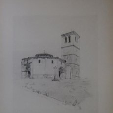 Arte: IGLESIA DE SAN MARCOS (SEGOVIA) - DIBUJO A LAPIZ POR AUGUSTIN BERNARD - 1928.-. Lote 76550143