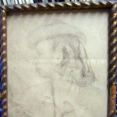 Arte: 1522.- DIBUJO LAPIZ 46X35 ,,,RETRATO,,, FIRMADO: C.PELLICER. Lote 25525443