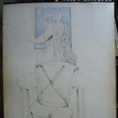 Arte: 1511.- DIBUJO TINTA 71X50 ,,, CHICA SENTADA DE ESPALDAS,,, JOAN PIJOAN 87. Lote 26292030