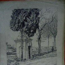 Arte: 1688.-DIBUJO CARBÓN 24X20 ,,, S. AMARGANT ,,, PAISAJE CASA 1911. Lote 26481501