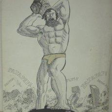 Arte: PEROTE, DIBUJO FIRMADO PEROTE, AÑO 1977. Lote 27244945