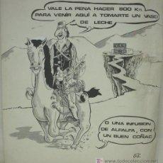 Arte: PEROTE, DIBUJO FIRMADO PEROTE, AÑO 1977. Lote 26555181