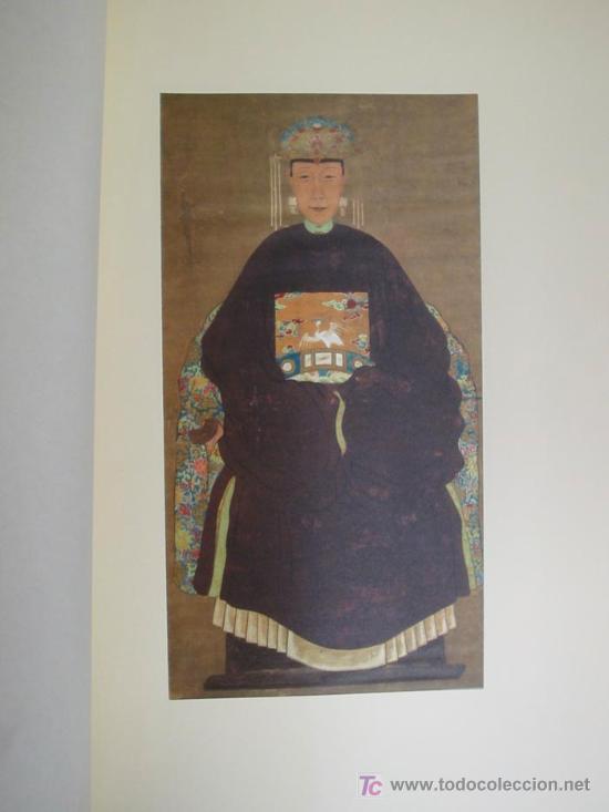 Arte: ANTIGUOS RETRATOS CHINOS. Texto NEBBIA Ugo. 16 h texto + 10 retratos en seda a color. 1975 - Foto 15 - 13755553