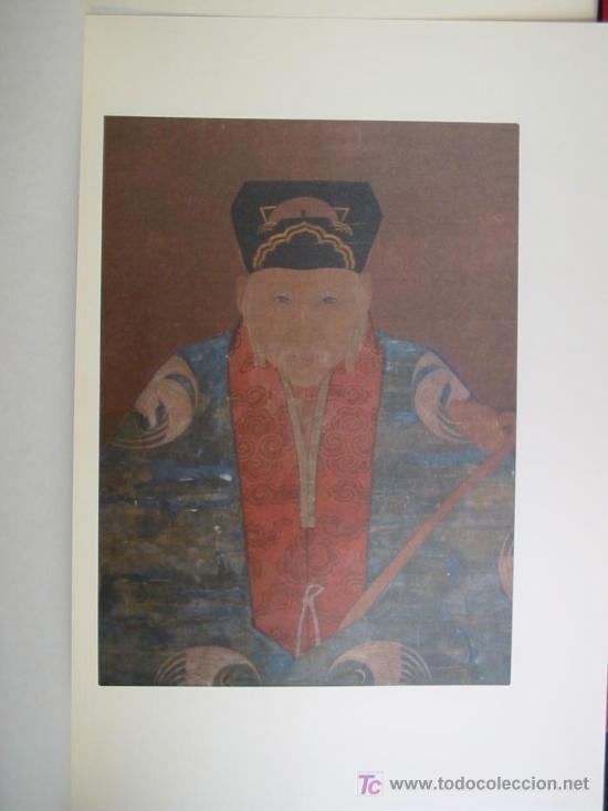 Arte: ANTIGUOS RETRATOS CHINOS. Texto NEBBIA Ugo. 16 h texto + 10 retratos en seda a color. 1975 - Foto 10 - 13755553