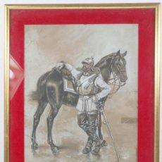 Arte: F. RAFAEL SEGURA. DIBUJO AL CARBONCILLO.. Lote 13820880