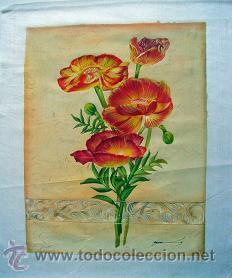 PINTURA ORIGINAL SOBRE SEDA (Arte - Dibujos - Contemporáneos siglo XX)