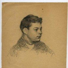 Arte: RICARDO VERDE. PRECIOSO DIBUJO DE VERDE. PINTURA VALENCIANA. 17/01/1903.. Lote 26268489