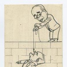 Kunst - APA. Feliu Elies. Dibujo satírico y de crítica social. Circa 1927. AZAÑA y otro político. - 27088619