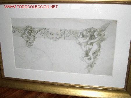 DIBUJO DE UNA ALEGORIA (Arte - Dibujos - Contemporáneos siglo XX)