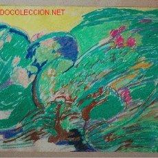 Arte: PINTURA ORIGINAL FIRMADA Y FECHADA DE 1976 REALIZADA A CERAS. Lote 16511022