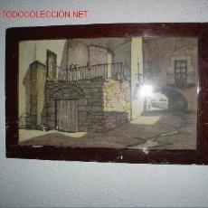 Arte: CUADRO DIBUJADO A PLUMILLA, 1900'S.. Lote 27515085