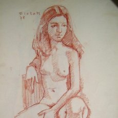 Arte: COLOR SOBRE PAPEL - FIRMADO - FLOTATS (FLOTATS NACIDO EN BARCELONA AÑO 1917). Lote 18971797