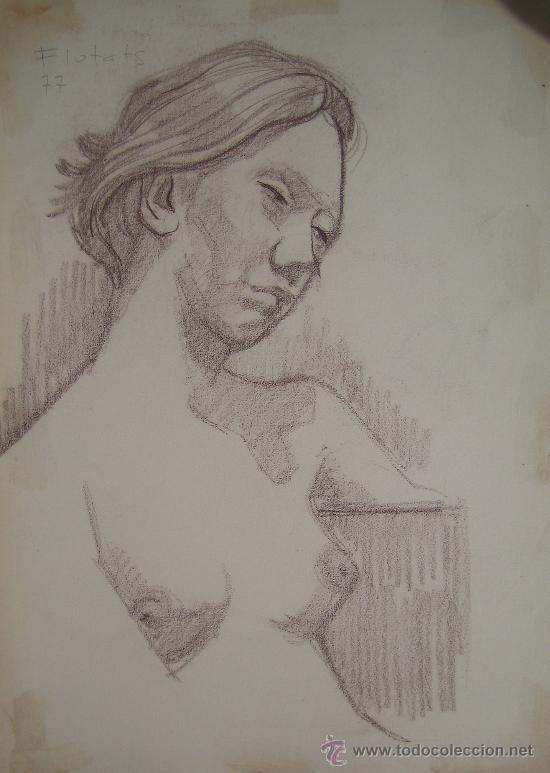 COLOR SOBRE PAPEL - FIRMADO - FLOTATS (FLOTATS NACIDO EN BARCELONA AÑO 1917) (Arte - Dibujos - Contemporáneos siglo XX)