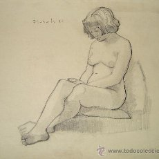 Arte: LÁPIZ SOBRE PAPEL - FIRMADO - FLOTATS (FLOTATS NACIDO EN BARCELONA AÑO 1917). Lote 18971815