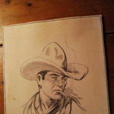 Arte: DIBUJO ORIGINAL A CARBONCILLO - PASCUAL 1950. Lote 26419104